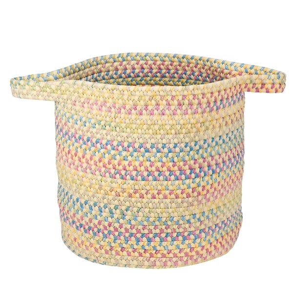 The Gray Barn Bracken Hill Summer Breeze Spacedyed Braided Laundry Basket