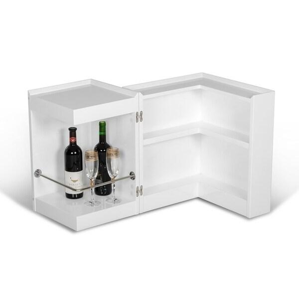 Modrest White Veneer End Table
