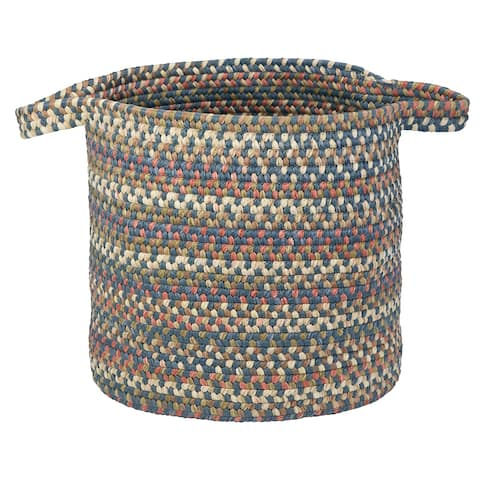 The Gray Barn Bracken Hill Blue Dusk Spacedyed Braided Laundry Basket
