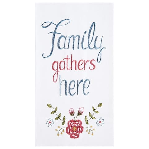 Family Gathers Here Towel Set of 2