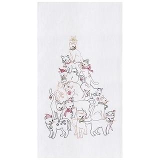 Cat Christmas Tree Towel Set of 2