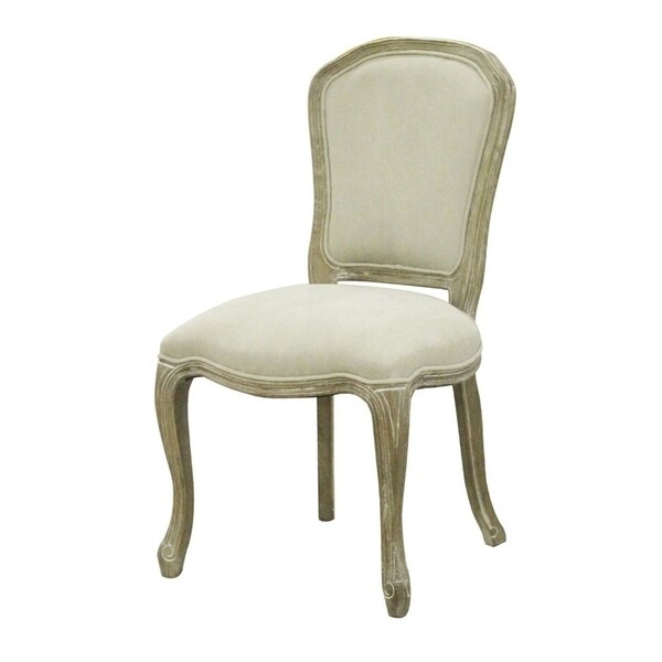 Lestero White Upholstered Wood Dining Chair
