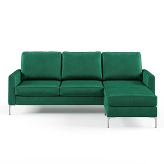 Novogratz Chapman Sectional Sofa with Chrome Legs