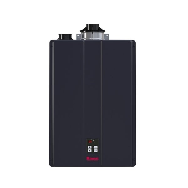 Rinnai Hybrid and Tankless Solution (Int Com CTWH 199k Btu 11gpm max w/Valve) CU199iP Charcoal