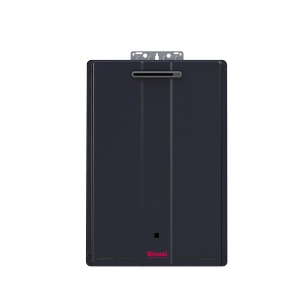 Rinnai Hybrid and Tankless Solution (Ext Com CTWH 199k Btu 11gpm max w/Valve) CU199eP Charcoal