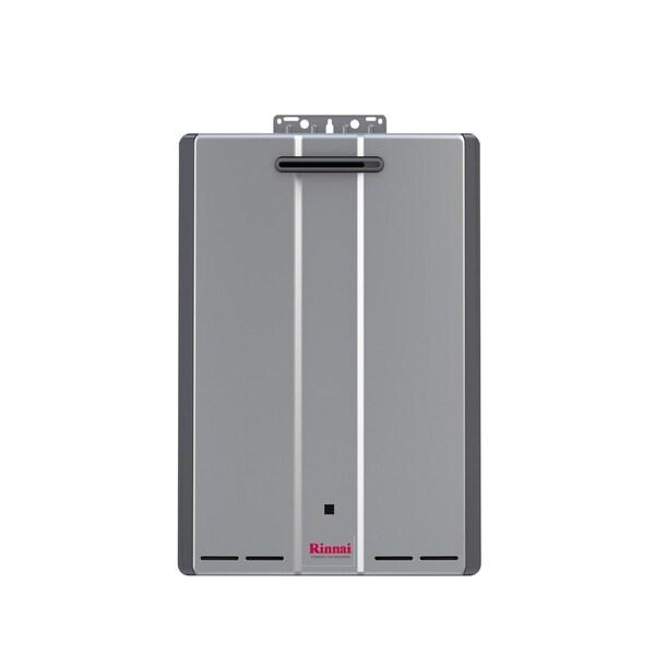 Rinnai Tankless Water Heater (Ext CTWH 199k Btu 11gpm max pump valve) RUR199eP Silver