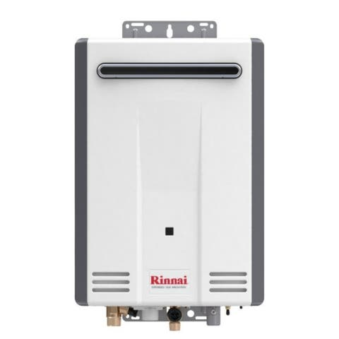 Rinnai Tankless Water Heater (Residential, Exterior, max Btu 120,000, 5.3gpm) V53DeN Euro White