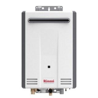 Rinnai Tankless Water Heater (Residential, Exterior, max Btu 120,000, 5.3gpm) V53DeN Euro White