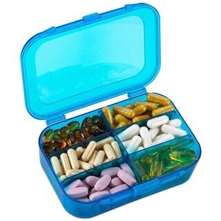 Travel Pill Organizer Box Daily 6 Compartment