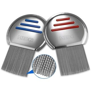 Stainless Steel Professional Lice Combs (Pack of 2)