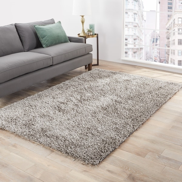 Vance Solid Silver Area Rug - 9' x 12'