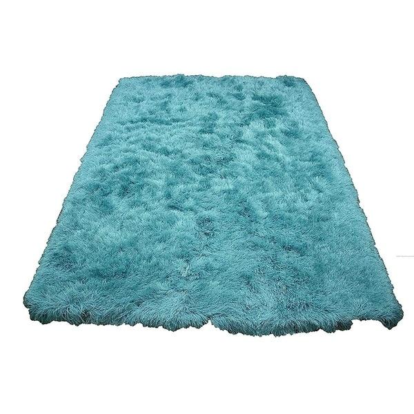 Turquoise Blue Shag Shaggy Area Rug Glorious Turquoise