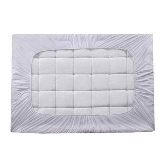 Elegant Comfort Premium Bamboo Mattress Pad - Overfilled Extra Plush Cooling Topper - Breathable Cool Flow Technology