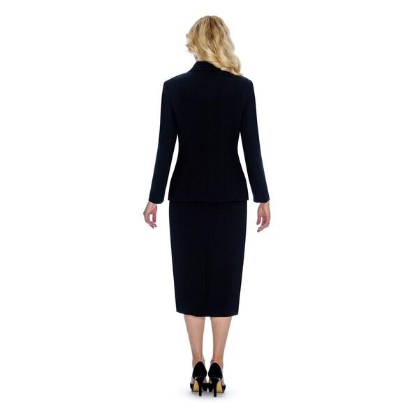 Giovanna Signature Women's Shawl Collar Washable 2-piece Skirt Suit