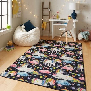 Shop Mohawk Prismatic Unicorn Area Rug On Sale Free