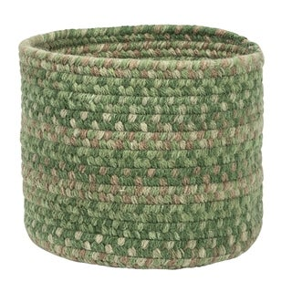 """Rustica Small-Space Wool Basket - Pinecrest 10""""x10""""x8"""""""
