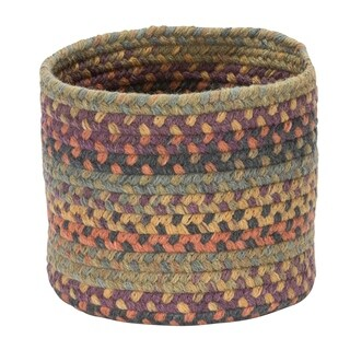 "Rustica Small-Space Wool Basket - Medley Mix 10""x10""x8"""