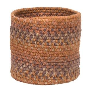 "Rustica Small-Space Wool Basket - Fall Oak 10""x10""x8"""