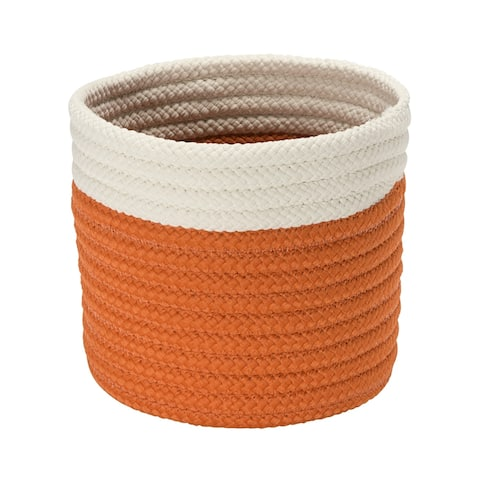 Tyonek 10-inch Outdoor Mini Accent Basket - Orange by Havenside Home