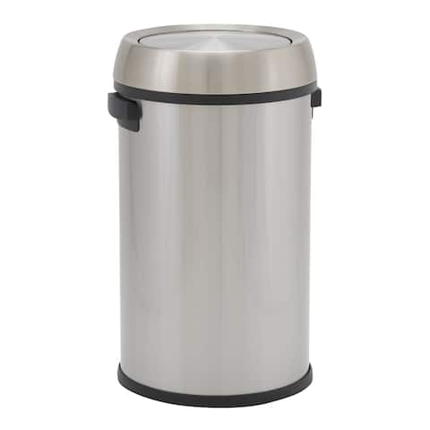 Design Trend 65L Napa Commercial Step Trash Can Bin Stainless with Swing Lid
