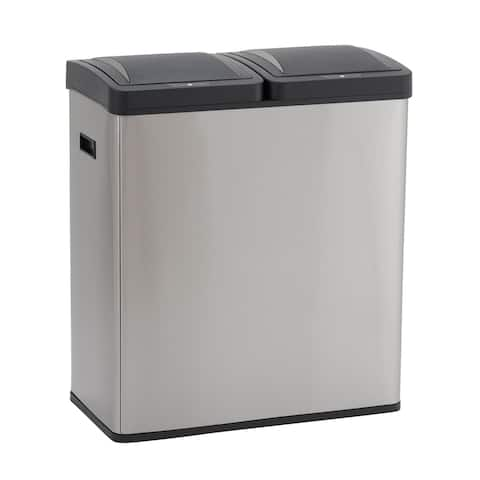 Design Trend 30L Hunter Recycle Sensor Step Trash Can Bin with Liners
