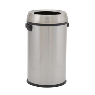 Design Trend 65L Tahoe Stainless Steel Commercial Step Trash Bin with Open Lid