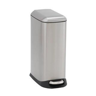 Design Trend 20L Capri Narrow Stainless Steel Step Trash Can Bin