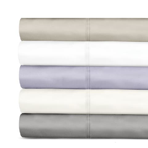 Veratex 600 Tencel Thread Sateen Solid Pillowcases (Set of 2)