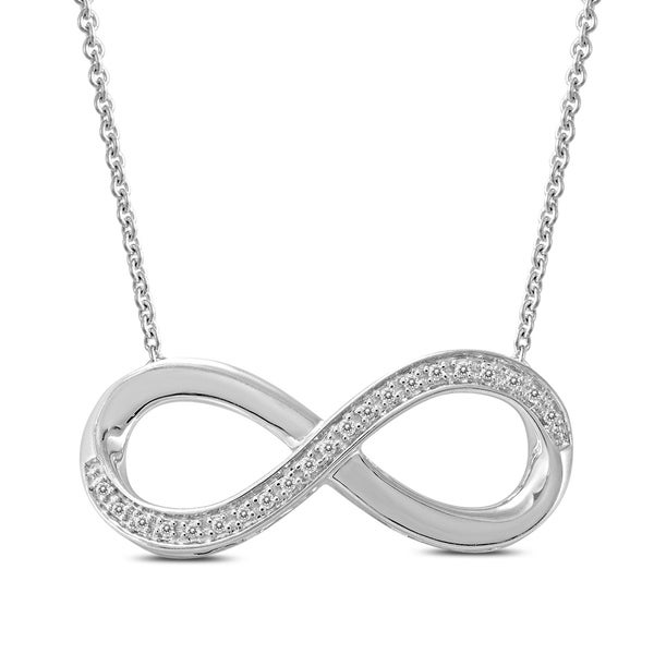 93138164a1028 Shop Diamond Infinity Pendant in .925 Sterling Silver - On Sale - Free  Shipping Today - Overstock - 24122780