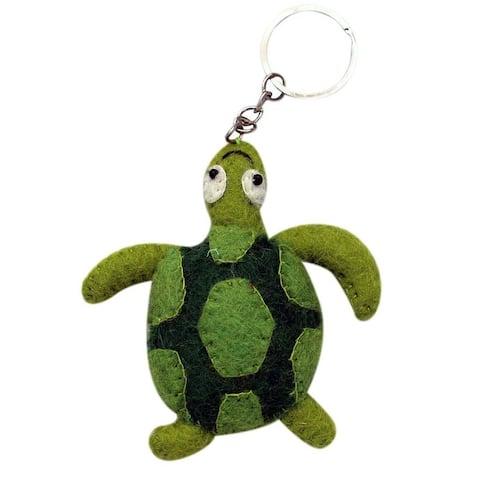 Handmade Felt Turtle Key Chain (Nepal)