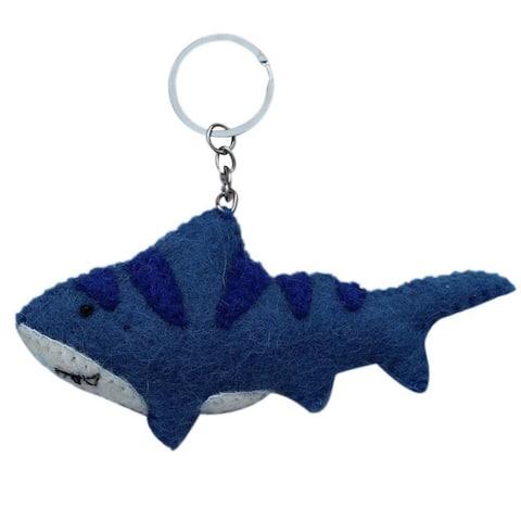 Handmade Felt Shark Key Chain (Nepal)