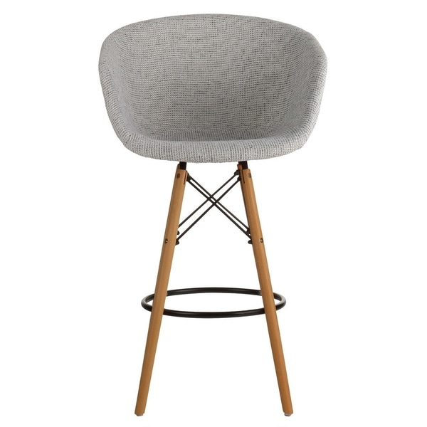 Danish Counter Seat: Shop Danish Mid-Century Modern Grey Upholstery Counter
