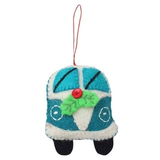 Link to Handmade Turquoise Van Felt Ornament (Nepal) Similar Items in Christmas Decorations