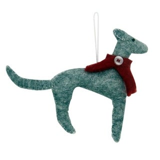 Link to Handmade Greyhound Felt Ornament (Nepal) Similar Items in Christmas Decorations