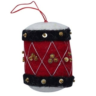 Link to Handmade Drum Felt Christmas Ornament (Nepal) Similar Items in Christmas Decorations