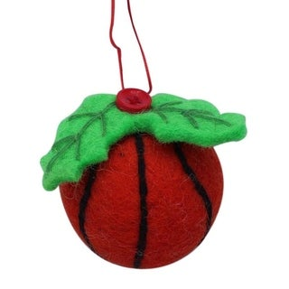 Link to Handmade Basketball Felt Christmas Ornament (Nepal) Similar Items in Christmas Decorations