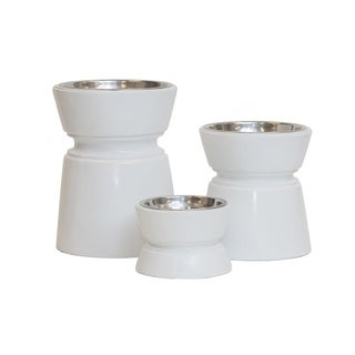 Unleashed Life Ansel Collection Elevated, Weighted Pet Bowls