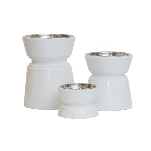 Shop Unleashed Life Ansel Collection Elevated Weighted Pet Bowls Free Shipping On Orders Over 45 Overstock 24123097