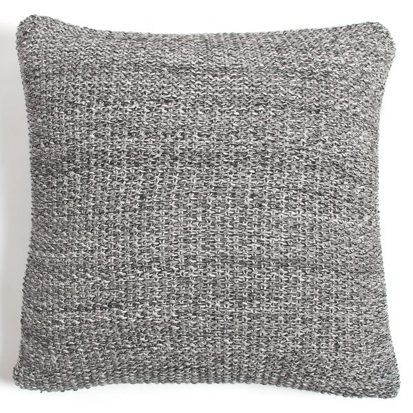 Cottage Home Eli Knitted Cotton 20 Inch Throw Pillow