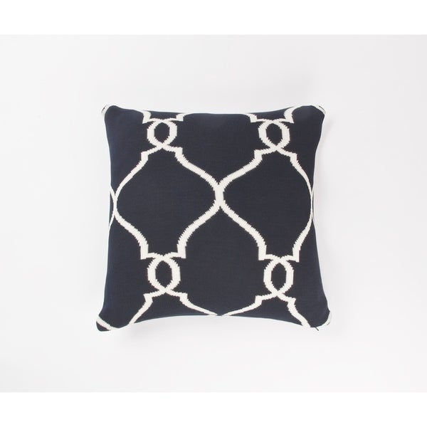 Top Product Reviews For Nautica Bartlett Knit Navy Square Pillow 14986880 Overstock
