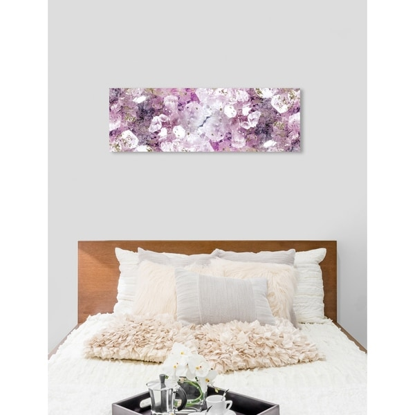Oliver Gal 'Crystal Romance' Abstract Wall Art Canvas Print - Purple, Gold. Opens flyout.
