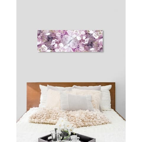 Oliver Gal 'Crystal Romance' Abstract Wall Art Canvas Print - Purple, Gold