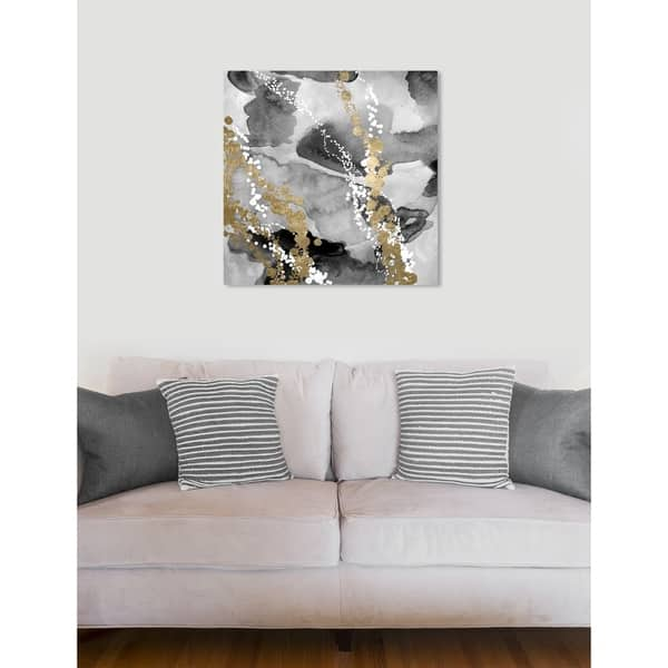 Oliver Gal Even More Love Silver Gold Abstract Wall Art Canvas Print Black White On Sale Overstock 24123206
