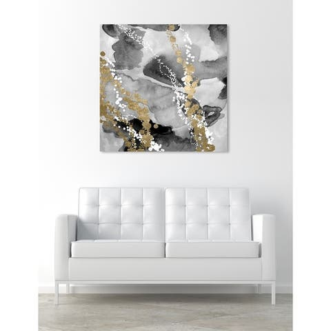 Oliver Gal 'Even More Love SILVER GOLD' Abstract Wall Art Canvas Print - Black, White