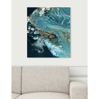 Oliver Gal 'Inlet' Abstract Wall Art Canvas Print - Blue, Black