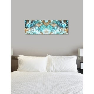 Oliver Gal 'Blazing Blue Gold Long' Abstract Wall Art Canvas Print - Blue, Gold
