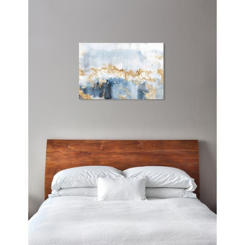 Oliver Gal 'Eight Days a Week' Abstract Wall Art Canvas Print - Blue, Gold