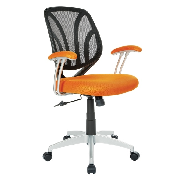 Screen Office Chair with Silver Arms and Base. Opens flyout.