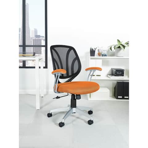 Screen Office Chair with Silver Arms and Base