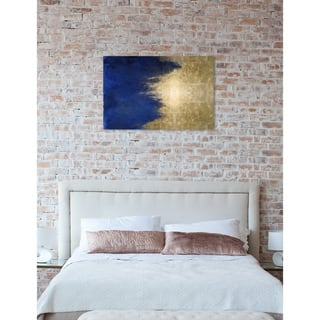 Oliver Gal 'Light symphony in Blue' Abstract Wall Art Canvas Print - Blue, Gold